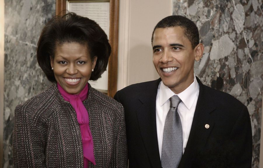 Michelle et Barack Obama en 2005