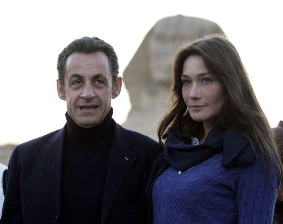 Nicolas Sarkozy et Carla Bruni en 2007