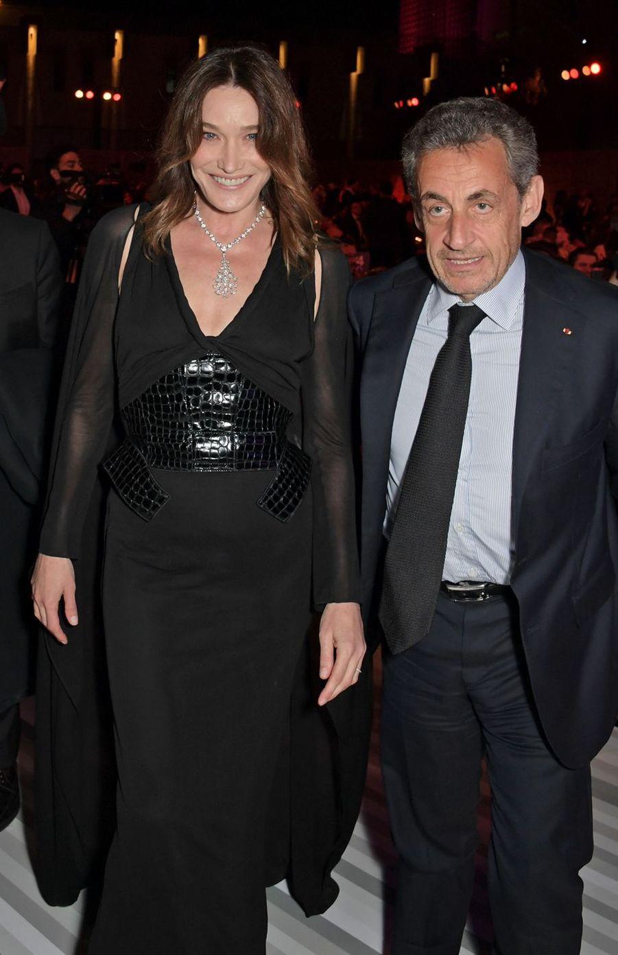 Nicolas Sarkozy et Carla Bruni en 2019