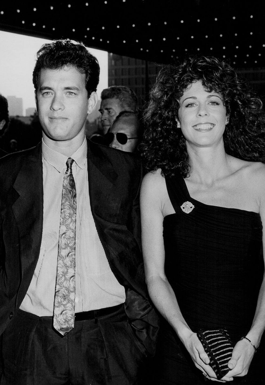 Tom Hanks et Rita Wilson en 1986