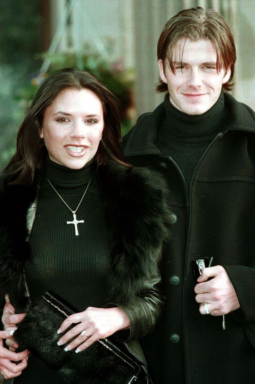 Victoria et David Beckham en 1998