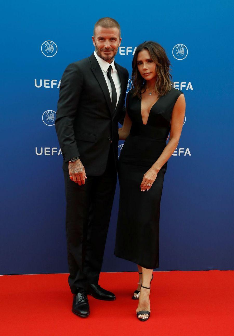 Victoria et David Beckham en 2018