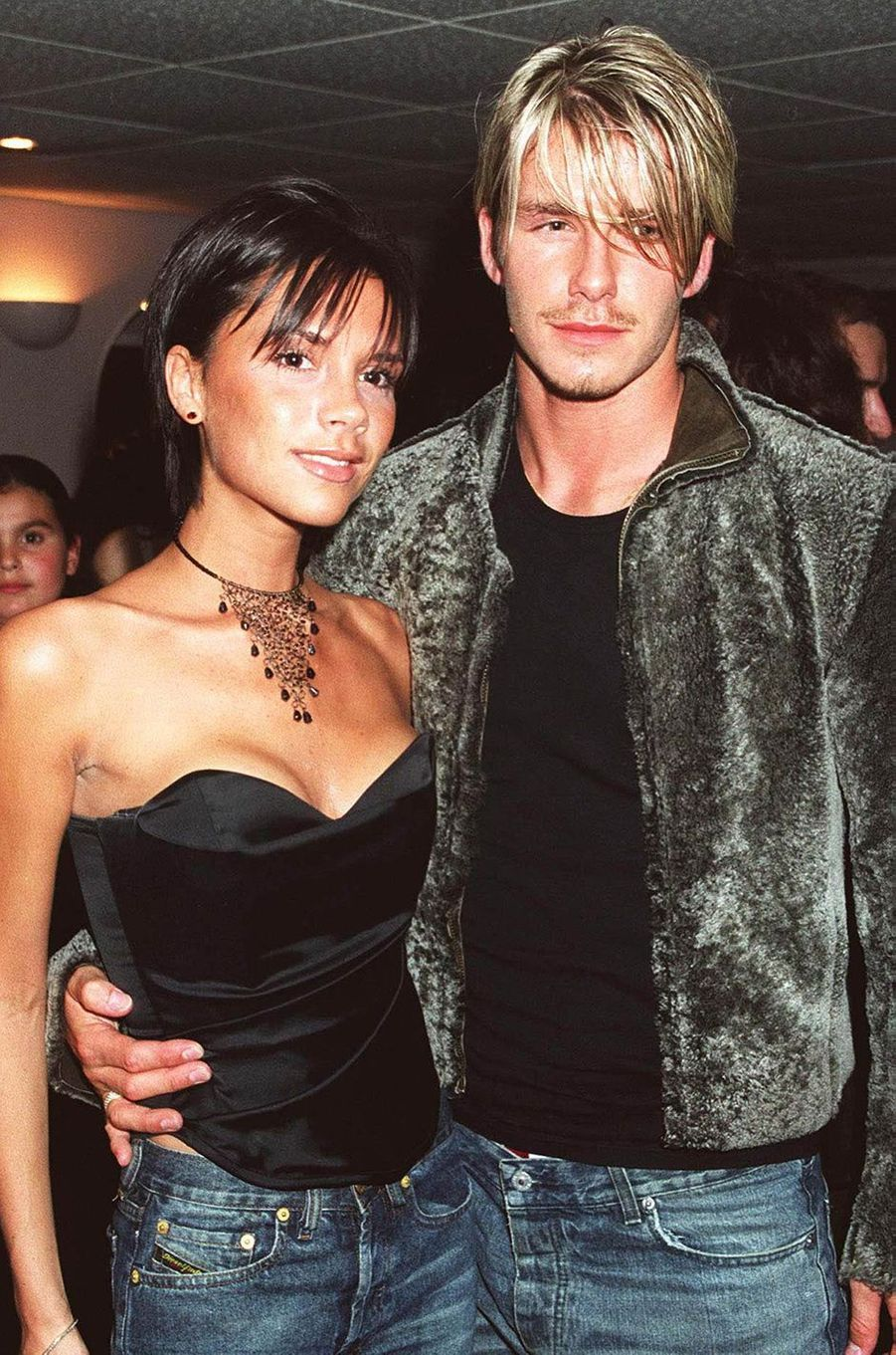 Victoria et David Beckham - ici en septembre 1999 dans les coulisses d'un concert de Whitney Houston à Londres