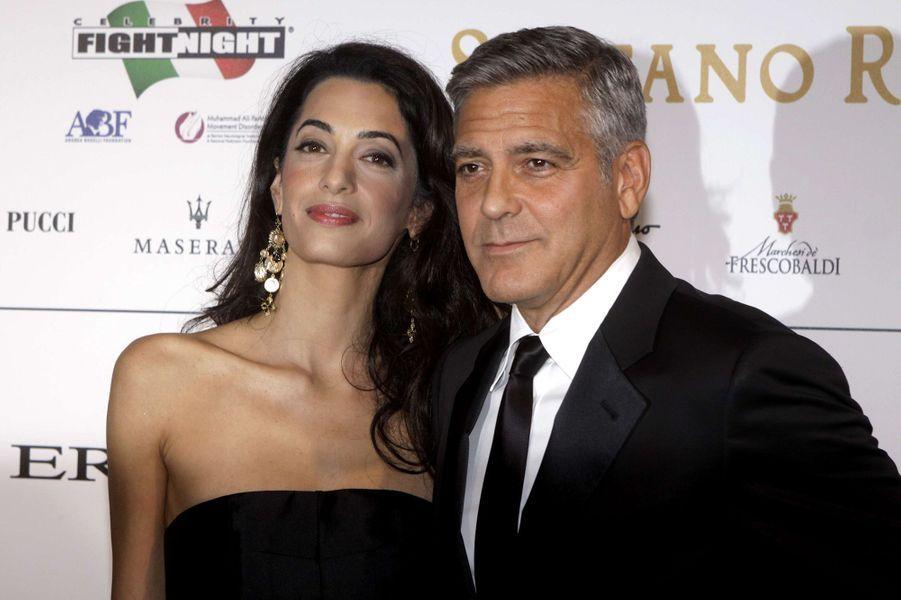 Amal et George Clooney en septembre 2014