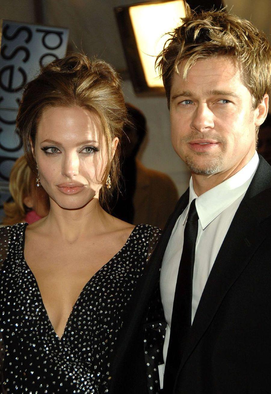 Angelina Jolie et Brad Pitt en novembre 2006