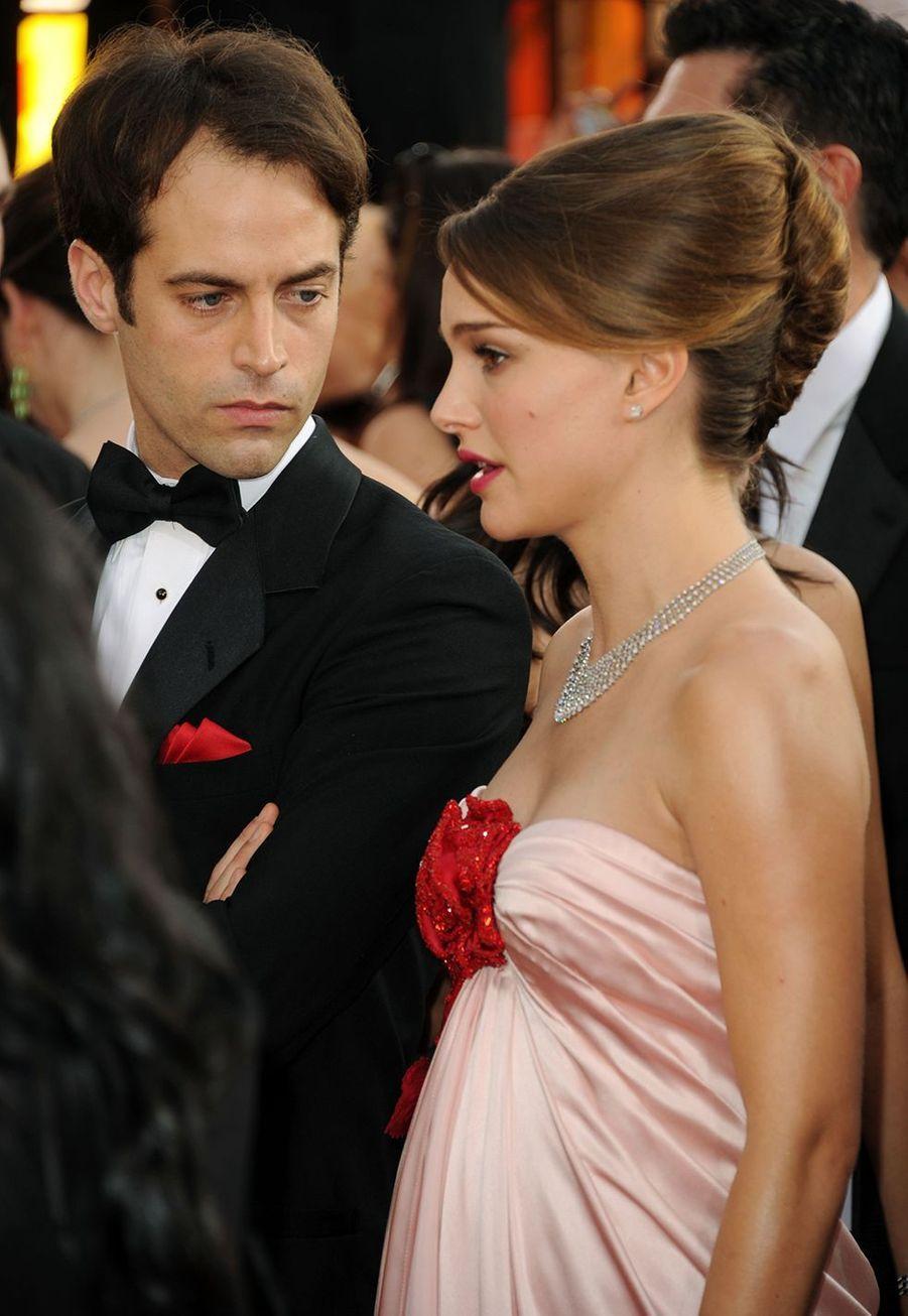 Benjamin Millepied et Natalie Portman en janvier 2011