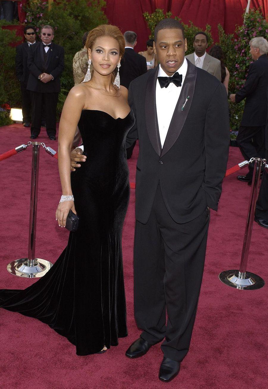 Beyoncé et Jay-Z en février 2005