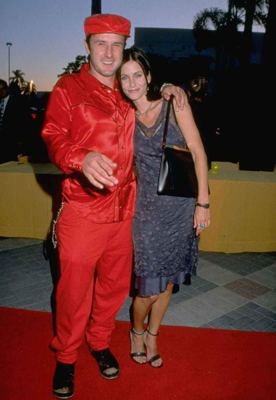 David Arquette et Courteney Cox en juillet 1998