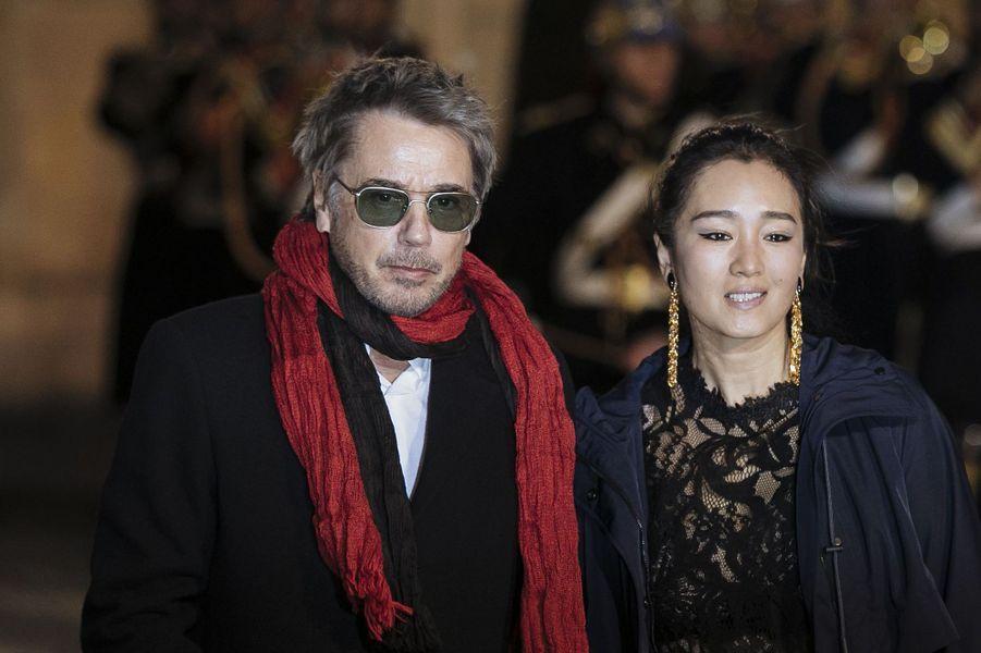 Jean-Michel Jarre et Gong Li en mars 2019