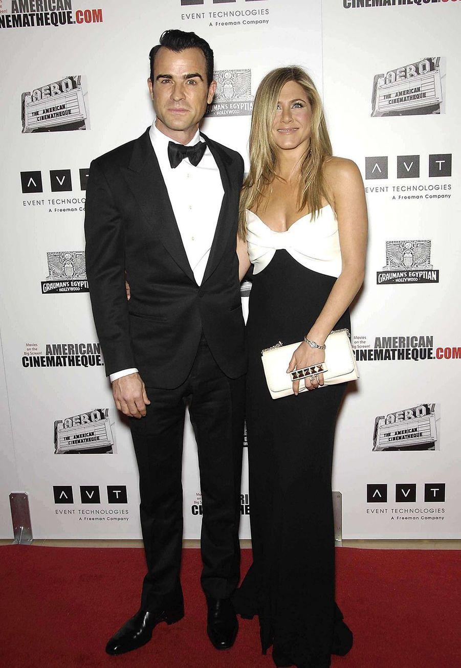 Justin Theroux et Jennifer Aniston en novembre 2012