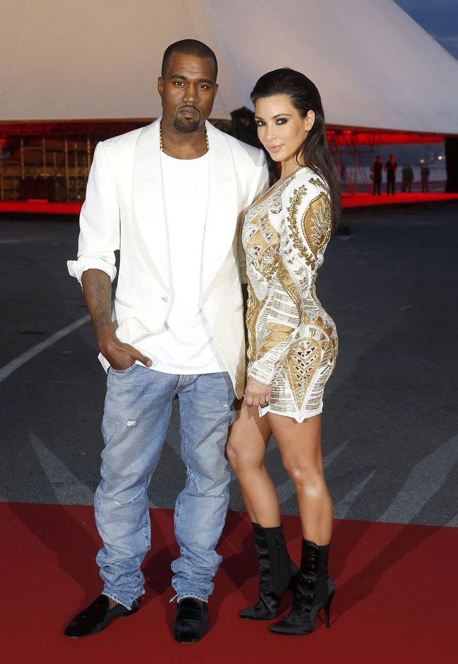 Kanye West et Kim Kardashian en mai 2012