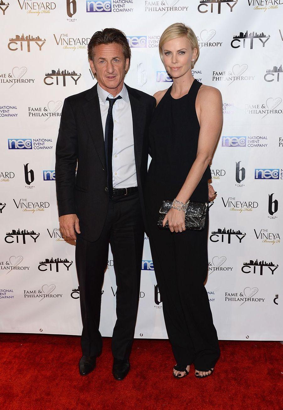 Sean Penn et Charlize Theron en mars 2014