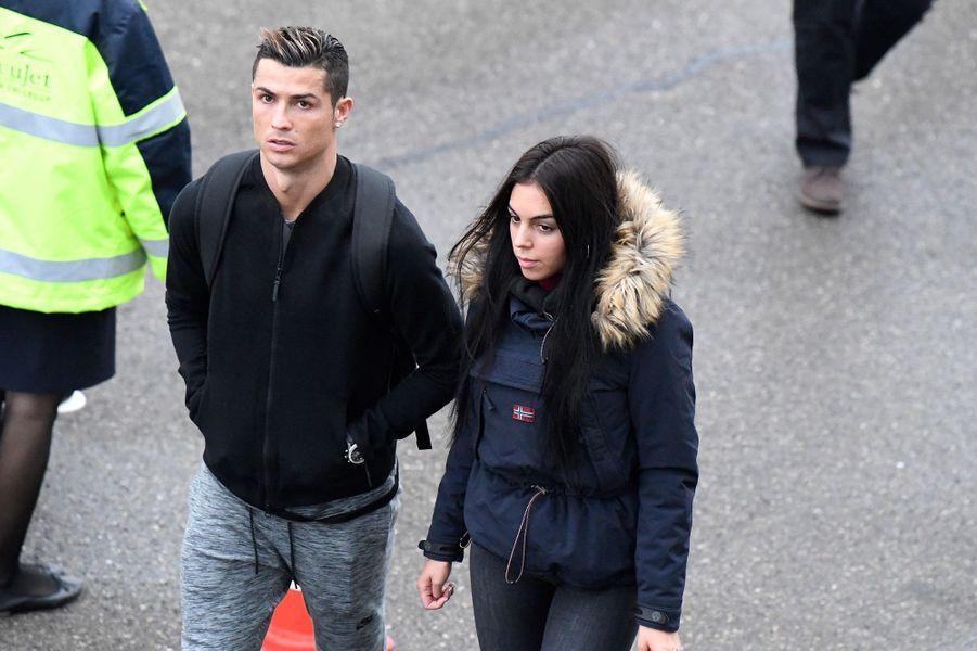 Cristiano Ronaldo et Georgina Rodriguez à Zurich, le 9 janvier 2017.