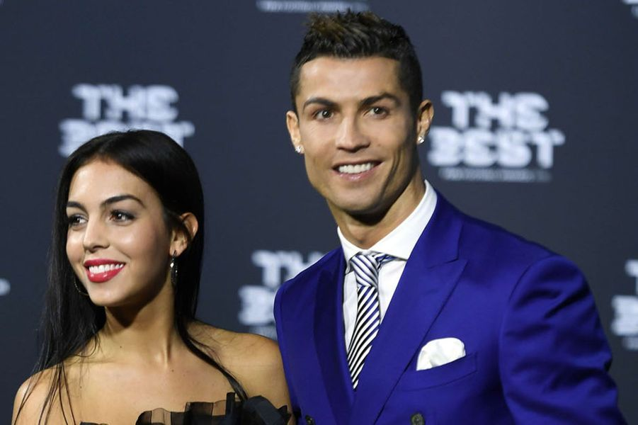 Cristiano Ronaldo et Georgina Rodriguez à Zurich pour la remise des prix Fifa, le 9 janvier 2017.