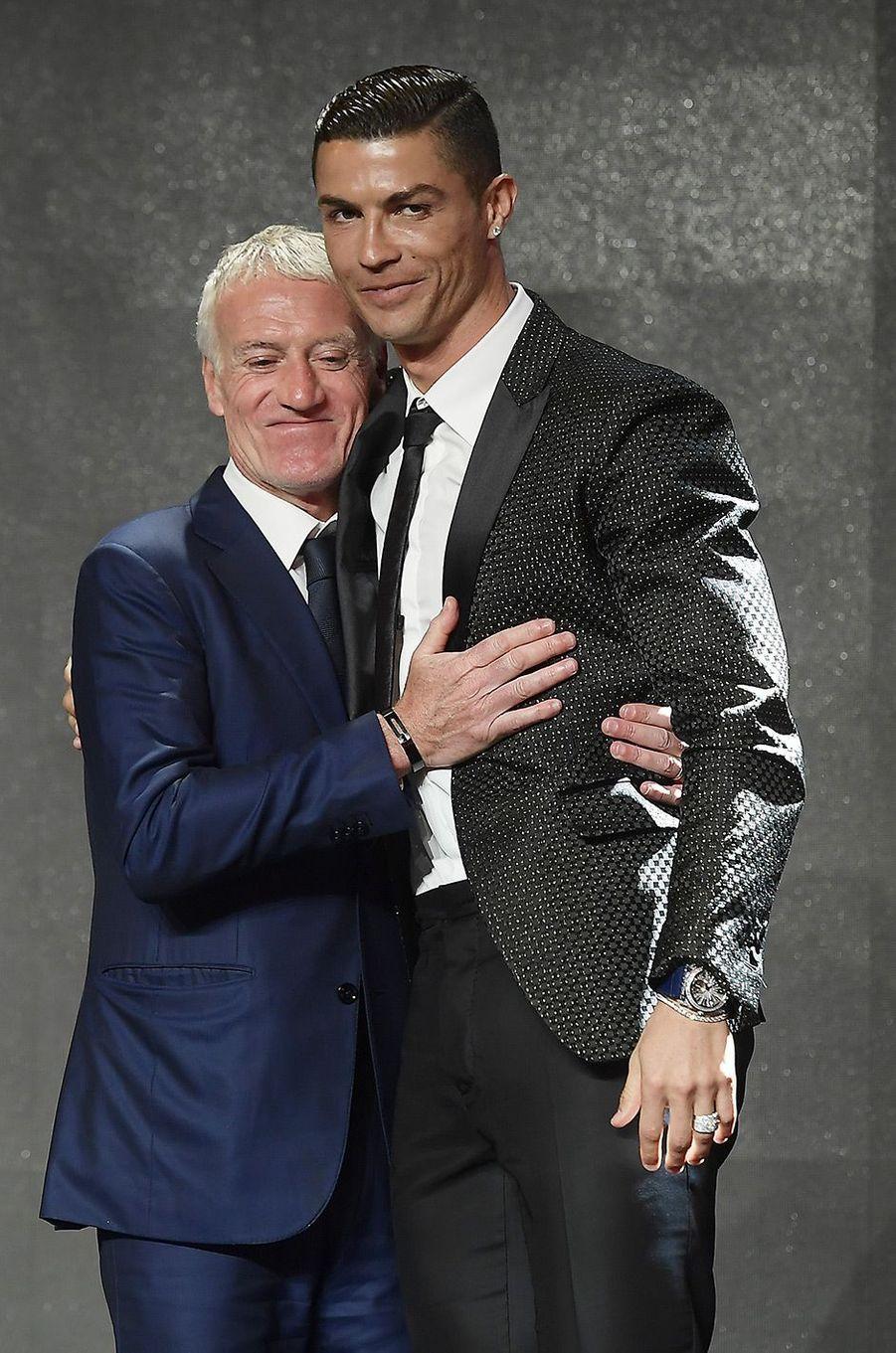 Cristiano Ronaldo avec Didier Deschamps
