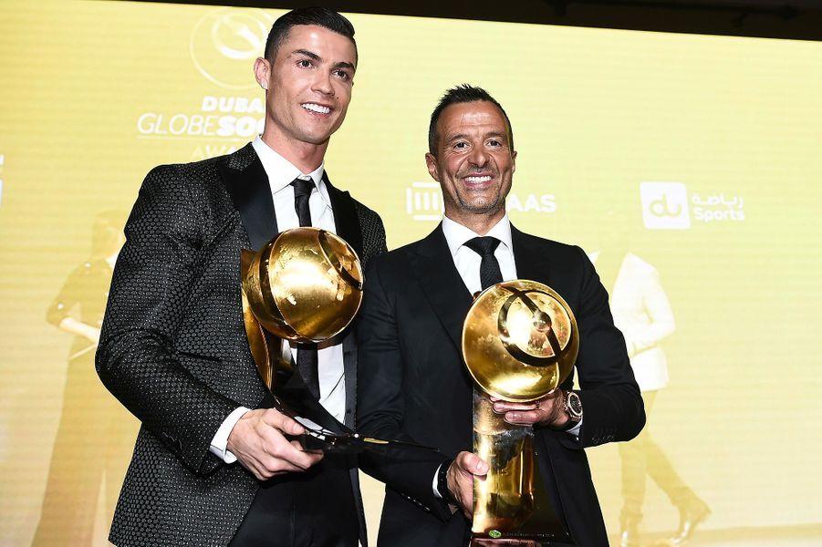 Cristiano Ronaldo à Dubaï avec son agent Jeorge Mendes