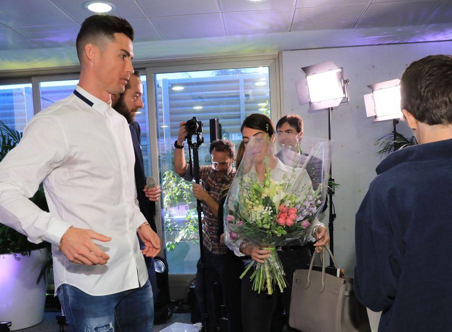 Cristiano Ronaldo etGeorgina Rodriguez à Madrid, le 18 mars 2019