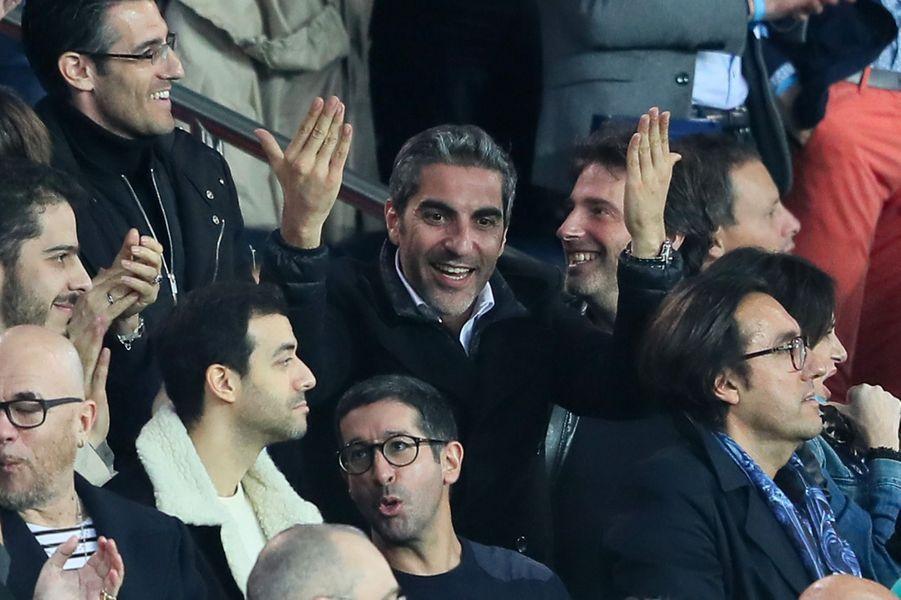Ary Abittan dans les tribunes du match PSG-Monaco