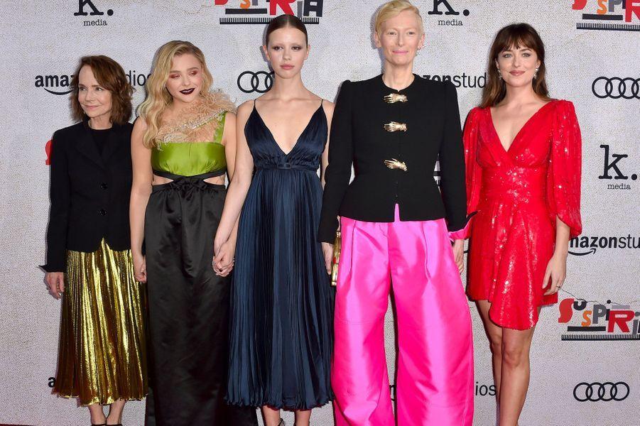 Jessica Harper, Chloë Grace Moretz, Mia Goth, Tilda Swinton et Dakota Johnson