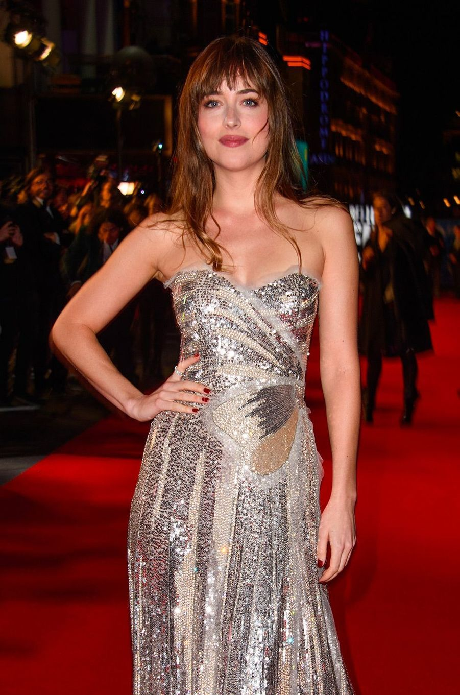 """Dakota Johnson à l'avant-première de """"Suspiria"""" à Londres, mardi 16 octobre"""