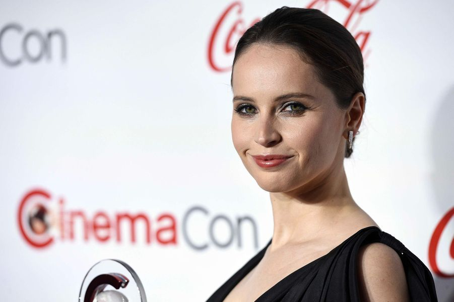 Felicity Jones au CinemaCon de Las Vegas, jeudi 26 avril 2018
