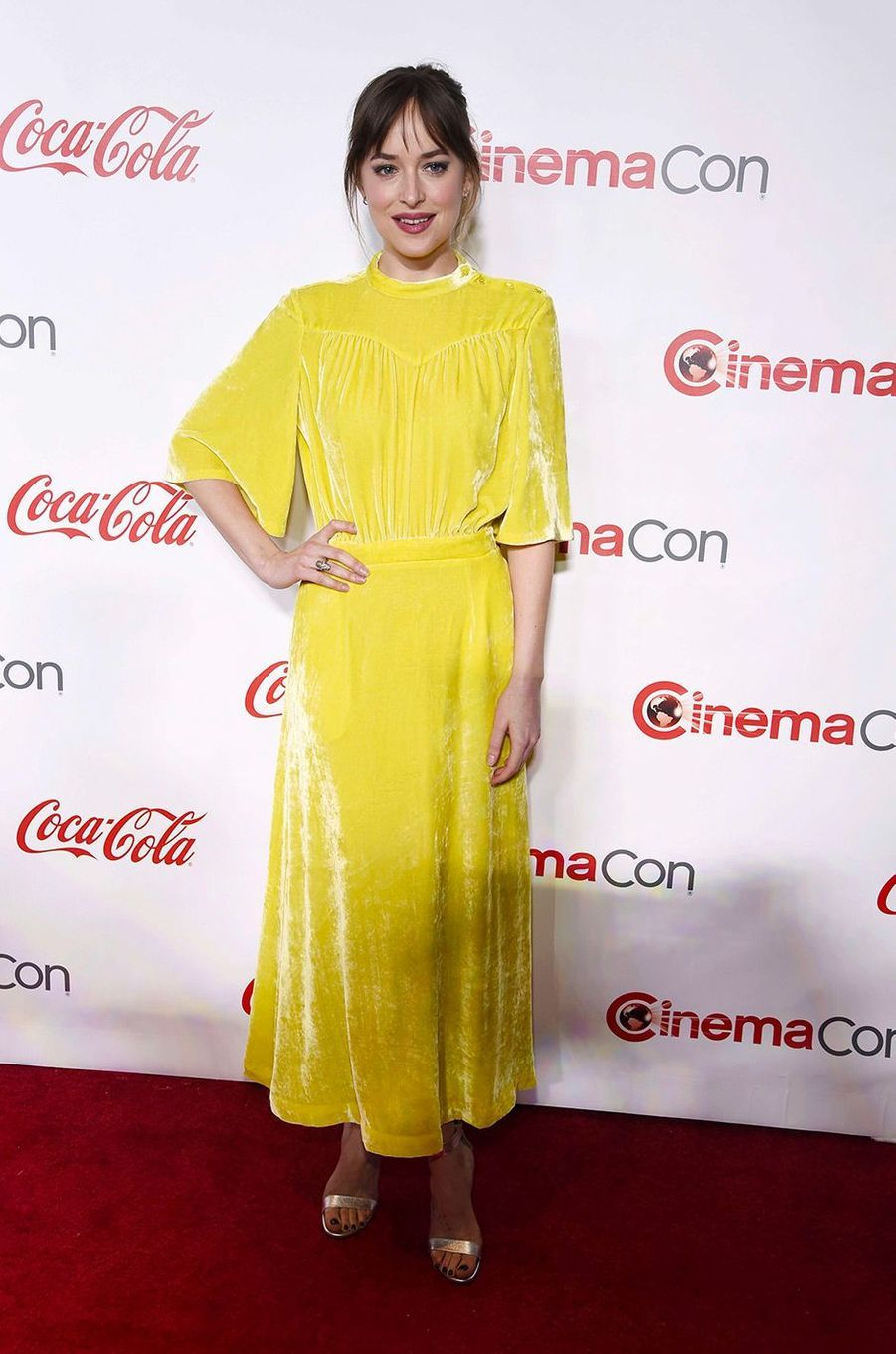 Dakota Johnson au CinemaCon de Las Vegas, jeudi 26 avril 2018