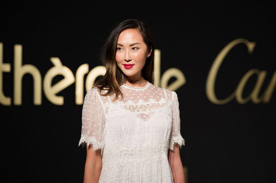 Chriselle Lim à la soirée Panthère de Cartier.