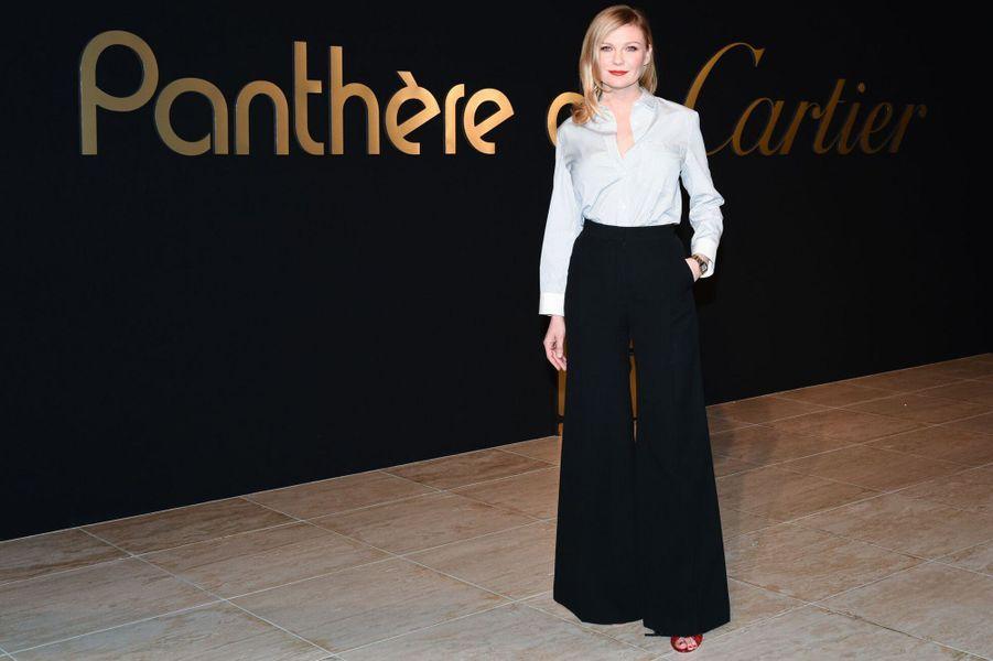 Kirsten Dunst à la soirée Panthère de Cartier.