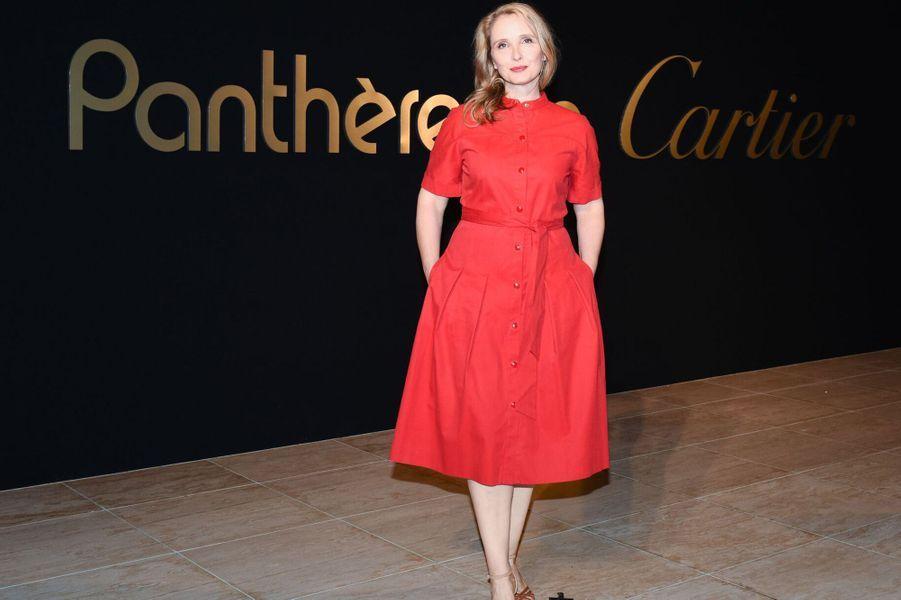 Julie Delpy à la soirée Panthère de Cartier.