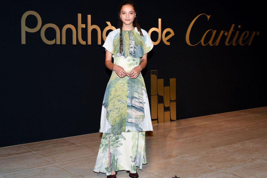 Sasha Lane à la soirée Panthère de Cartier.