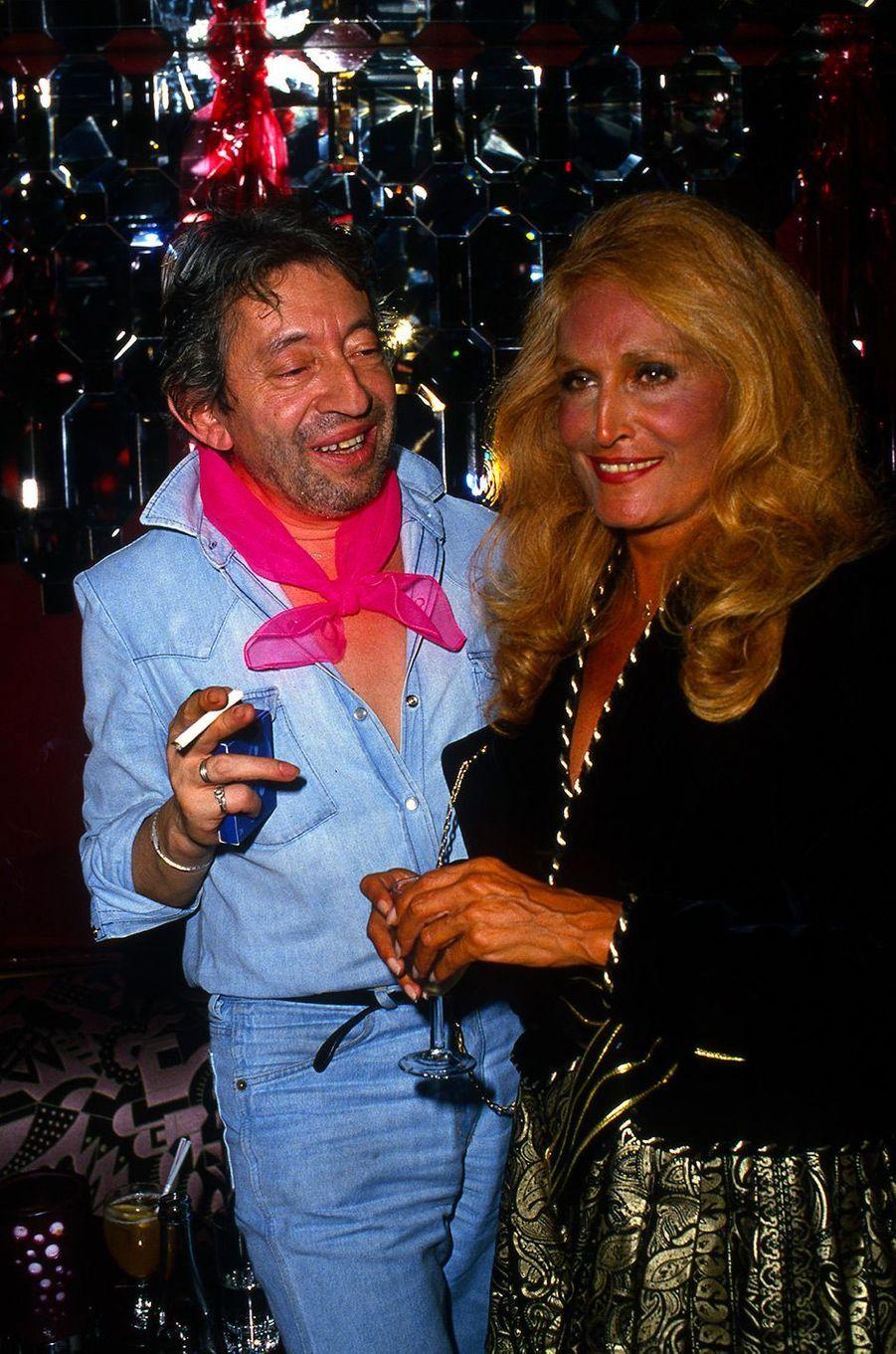 Dalida avec Serge Gainsbourg en 1986