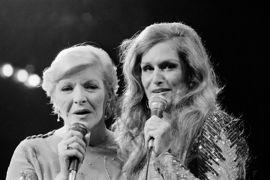 Dalida avec Line Renaud en 1983