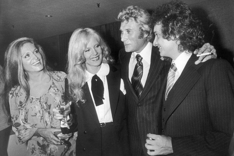 Dalida, Sylvie Vartan, Johnny Hallyday, Michel Sardou en 1977
