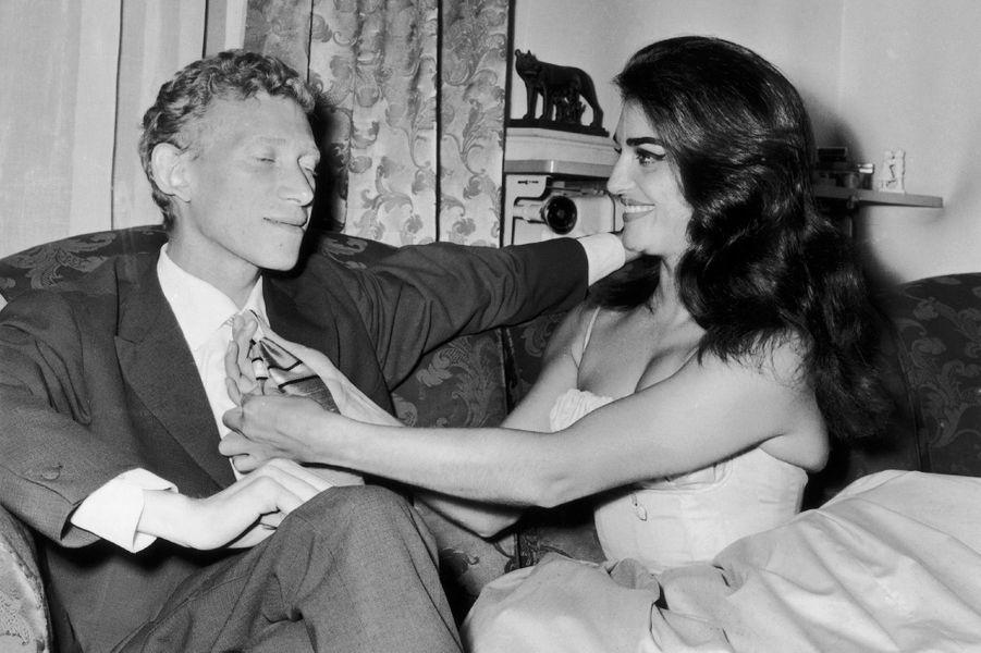 Dalida avec Lucien Morisse en 1961