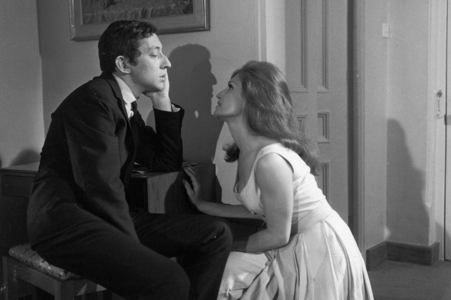 Dalida avec Serge Gainsbourg en 1963