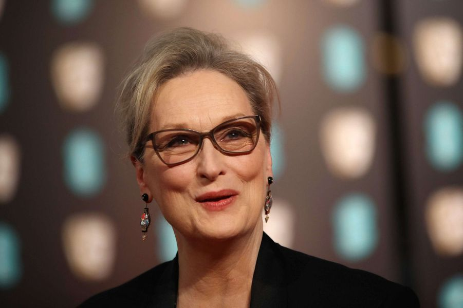 Meryl Streep dans les coulisses des BAFTA 2017.