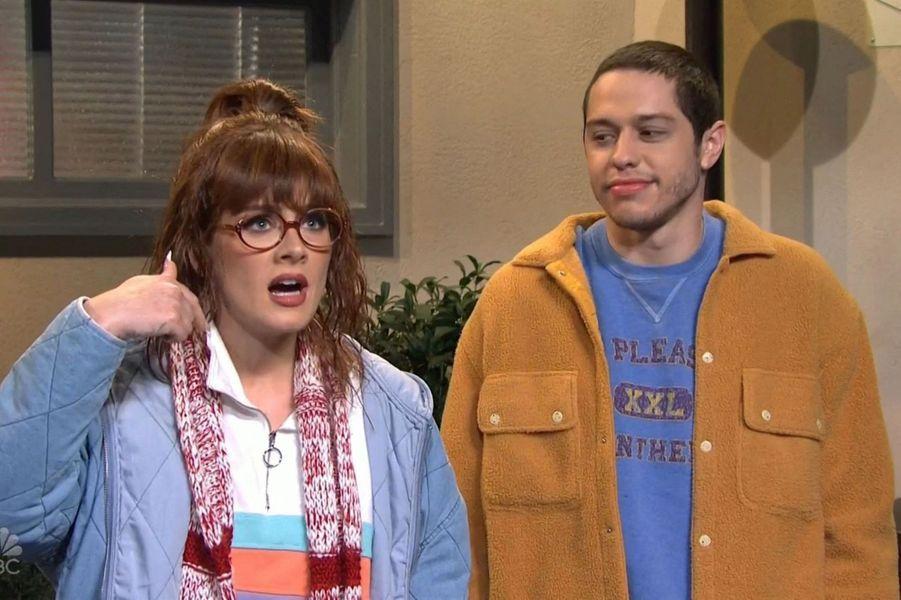 Adele et Pete Davidsondans l'émission«Saturday Night Live» diffusée le 24 octobre 2020