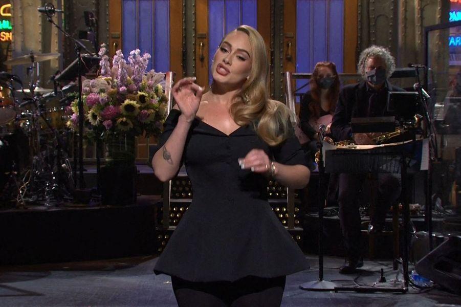 Adele dans l'émission«Saturday Night Live» diffusée le 24 octobre 2020