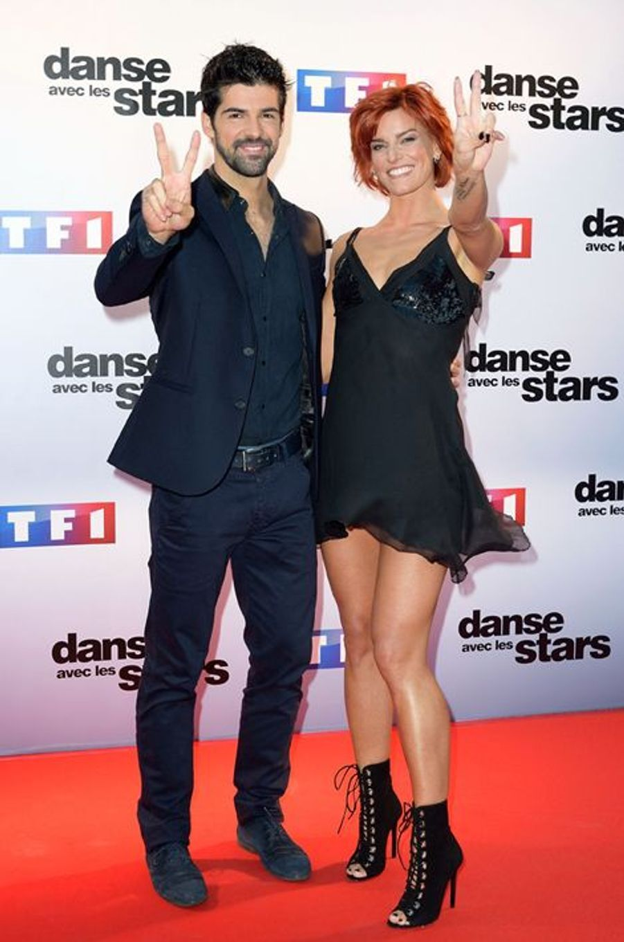 Danse avec les stars 5 : l'acteur Miguel Ange Lunoz et la danseuse Fauve Hautot.