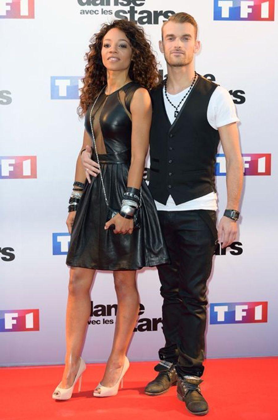 Danse avec les stars 5 : la chanteuse Louisy Joseph et son partenaire Guillaume Foucault.