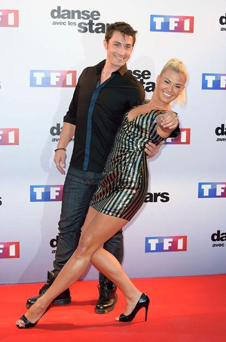 Danse avec les stars 5 : le patineur Brian Joubert et sa partenaire Katrina Patchett.