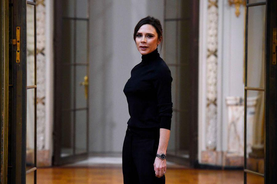 Victoria Beckham présente sa collection automne/hiver 2018 pendant la Fashion Week