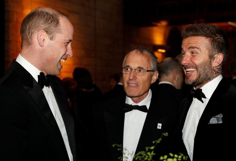 David Beckham et le prince William à Londres, le 4 avril 2019