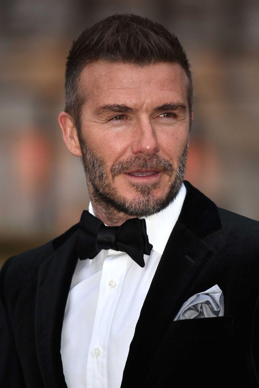 David Beckham à Londres, le 4 avril 2019