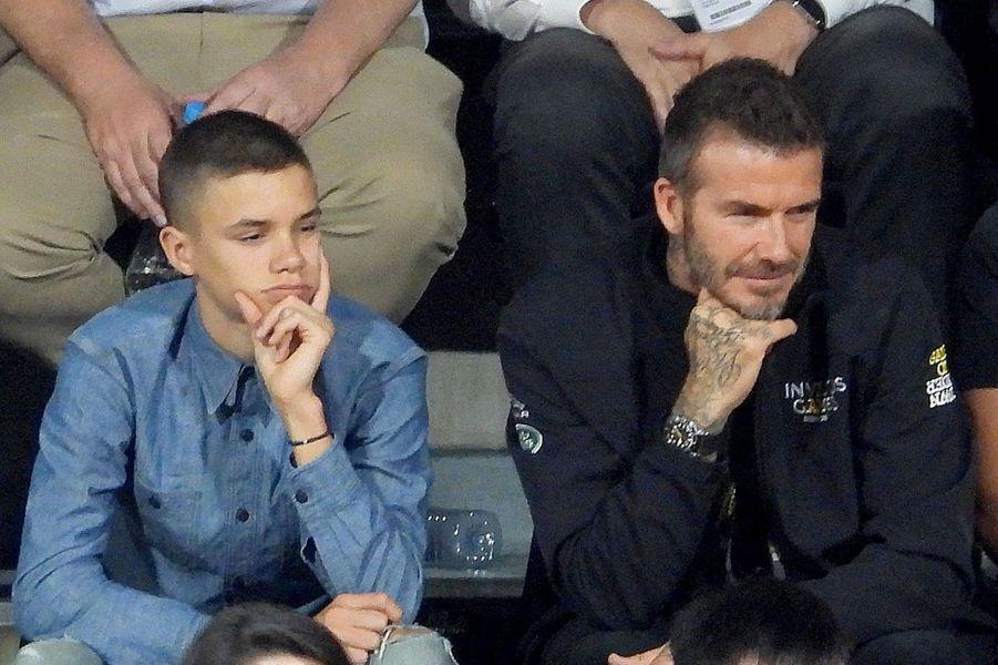 David Beckham et son fils Romeo aux Invictus Games à Sydney, samedi