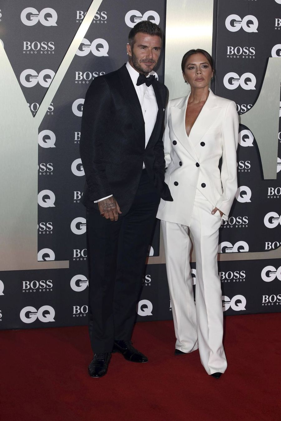 "David et Victoria Beckham à la soirée ""GQ Men Of The Year"""
