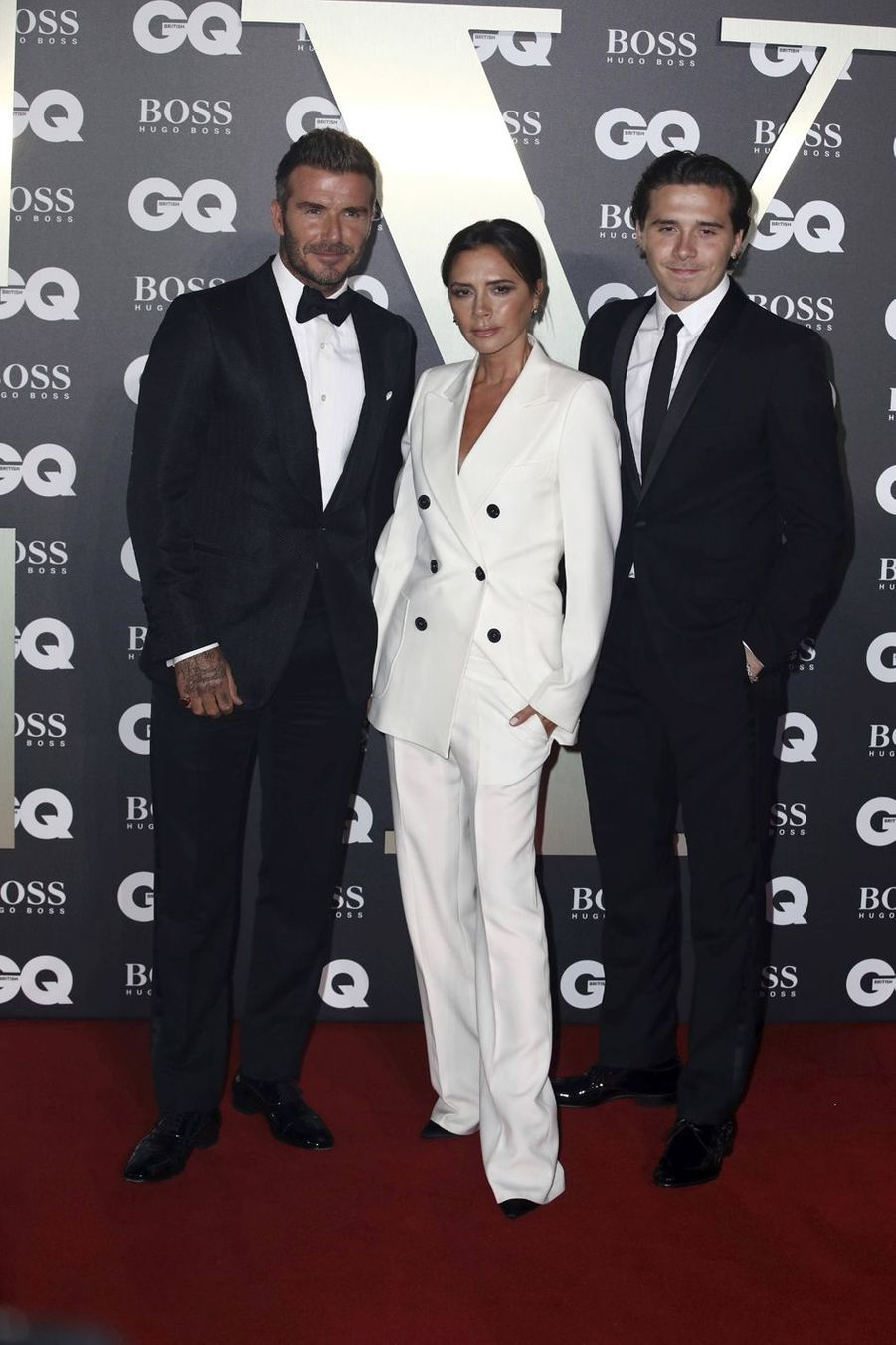 "David, Victoria et Brooklyn Beckham à la soirée ""GQ Men Of The Year"""