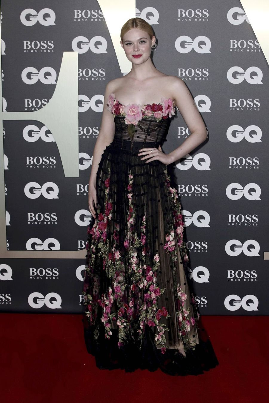 "Elle Fanning à la soirée ""GQ Men Of The Year"""
