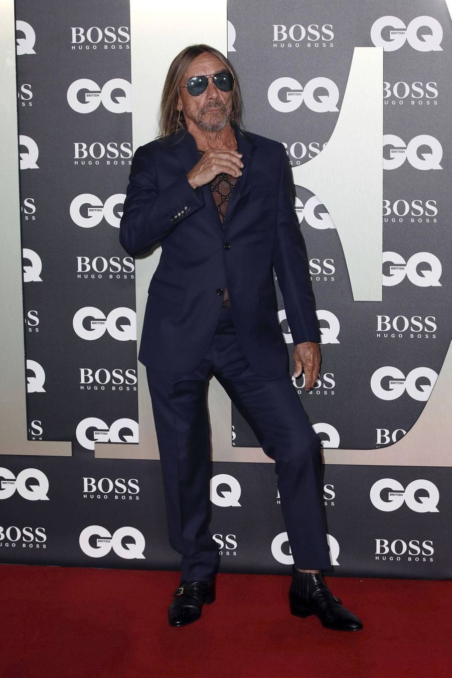 "Iggy Pop à la soirée ""GQ Men Of The Year"""