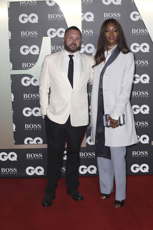"""Naomi Campbell et son ami, le créateur Kim Jones, à la soirée """"GQ Men Of The Year"""""""